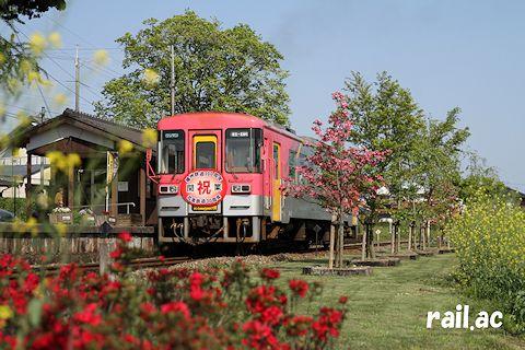 播州鉄道100周年・北条鉄道30周年記念ヘッドマーク付フラワ2000-1