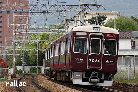 神戸三宮から西宮北口へ回送中の増結車2連
