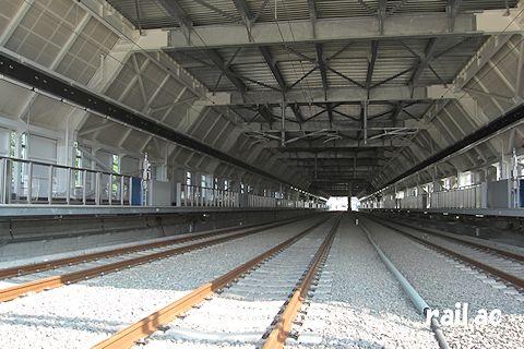 完成間近の奥津軽いまべつ駅