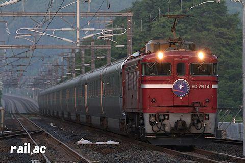 海峡線を行くED79牽引カシオペア