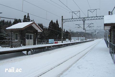 2013年2月の津軽今別駅