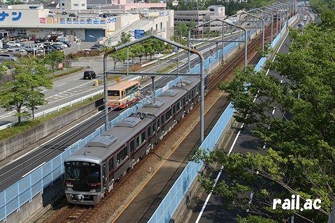 公園都市線で運用された営業運用初日の6500系