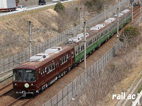初期の神戸市電カラーを纏った3000系3126号車