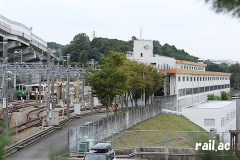 北神急行谷上車庫に姿を現した神戸市交1000系