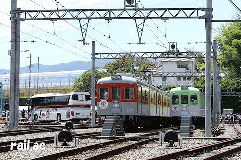 神戸電鉄90周年メモリアルトレインデビュー記念昭和レトロフェスタ